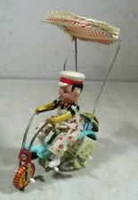 Tin Wind Up Tricycle With Bell Toy 607 MS-710
