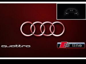 Audi Chrome S Line Metal Badge  Emblem Sticker