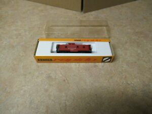 ARNOLD  RAPIDO N SCALE  A.T.& S.F.  1957 MADE IN WESTERN GERMANY CABOOSE