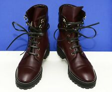 STUART WEITZMAN Lexy Round Toe Leather Lace Up Women's Boots, 9EU/8.5US, $490