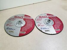 Lot of 2 - UNITED ABRASIVES-SAIT Depressed Center, T27, 9x1/4x5/8-11, AO, 20096