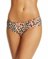 Bar III Dalmatian Print Bikini Bottom Peach Size L