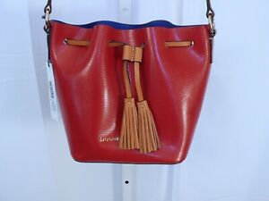 DOONEY & BOURKE NWT Serena Crossbody Red/Royal Blue Handbag & Zip Pouch $228