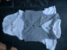 NEXT 12-18 mnts body suit with matching waistcoat. 100% cotton. VGC. White/grey