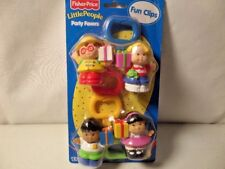 NIB New Fisher Price Little People Fun Clips Party Favors - 2000 - VHTF