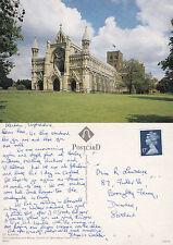 1990's St ALBANS ABBEY St ALBANS HERTFORDSHIRE COLOUR POSTCARD