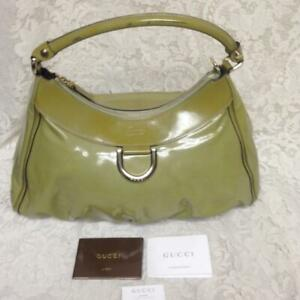 Gucci Green Patent Leather Handbag 15in x 10in x 4 in