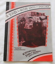 A SCHOOL FOR NATURE LOVERS & SPORTSMEN J W ELWOOD TAXIDERMY COURSE BOOKLET