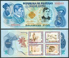2 Pesos JOSE RIZAL DEATH ANNIVERSARY w/ ASEANPEX Stamp Commemorative Banknote E