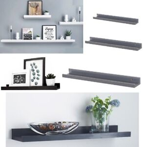 Set of 2 Floating Wall Shelves Picture Ledge Display Rack Book Hanging Shelf New