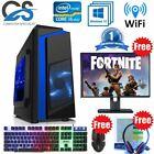 Fast Gaming Pc Computer Bundle Intel Quad Core I5 16gb 1tb 120gb 4gb Gtx1650 W10