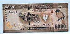 SRI LANKA 2015 5000 RUPEES SOLID NUMBER R/46 111111