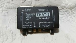 JK Audio THAT-2 Telephone Handset XLR RCA Audio Tap