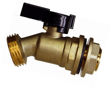 RAINPAL RBS005 Brass Water Container/Rain Barrel Spigot w/Build-in Bulkhead