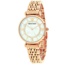 NEW GENUINE EMPORIO ARMANI AR1909 WOMENS WATCH GIANNI T-BAR MOTHER OF PEARL DIAL