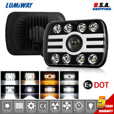 85W 5x7'' 7x6'' LED Headlight Hi-Lo Sealed Beam Halo DRL Turn Singal Projector