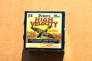 Peters High Velocity 28 Gauge Empty Shotgun Shell Box, New Peters Crimp