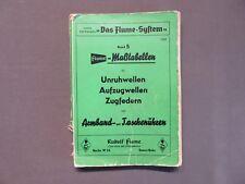 Rudolf Flume Werk-sucher Wecker 1945 Große Kleine Weckerwerke Etuis 8-tag Uhren StraßEnpreis Antiquitäten & Kunst Alte Berufe