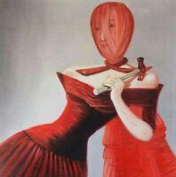 DIE HAMMERFRAU canvas Öl auf Leinwand Gemälde Gr. ca. 33x33 cm