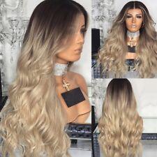 Parrucca Lunga Ondulata Riccia testa piena capelli Parrucche Da Donna Cosplay