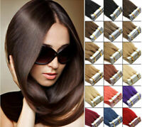Straight Hot Seamless Tape In Skin Weft 100% Remy Human Hair Extensions 20Pcs