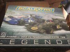 Scalextric C3479A GP Legends Tyrrell 003 VS Team Lotus Type 72e MIB Ltd Edition