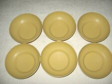 """Set of 6 Vtg Tupperware #890 Salad Cereal Bowls Harvest Gold Yellow Classic 6"""""""