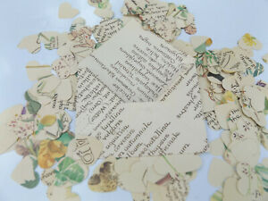 250  heart vintage style table confetti in hand made envelope