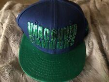 New Era 100% authentic Vancouver Canucks Prototype Sample Snapback Hat blue