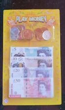 Kids Children Play Fake Money Pretend Role Shops Cash £ Pound Notes Coins Toy