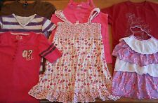Girls tops shirts size 14, lot of 6 summer multi-color, purple brown pink #898
