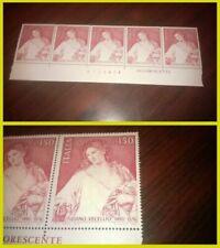 Francobolli italiani blocchetto da 1 francobollo nuovo non linguellato
