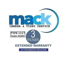 Mack 3-Years Accidental Warranty (#1317) For Canon EOS 5D Mark lII DSLR Camera