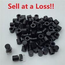 100pcs/lot Black Plastic Cap Hat 6*6mm G62 Tactile Push Button Switch Lid Cover