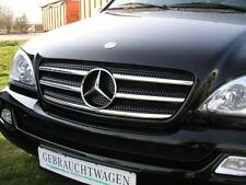 Mercedes-Benz ML W163 98-05 SUV - CHROME Kit Front Grille Covers 3M Trim Tuning