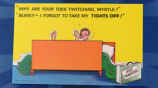 A Bamforth Comic Postcard 1970s TIGHTS STOCKINGS PANTYHOSE TOES Honeymoon FF 022