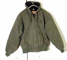 Vtg Green Swingster Workwear John Deere Hoodie Cotton Jacket Coat Sz L