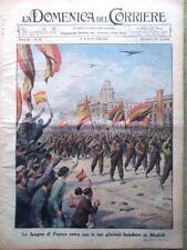 La Domenica del Corriere 8 Aprile 1939 Spagna Franco Duce Mussolini Rugby Madrid