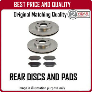 REAR DISCS AND PADS FOR TOYOTA ALPHARD 2.4 5/2002-12/2009