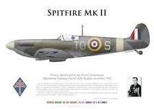 Print Spitfire Mk II, Pierre Clostermann, OTU 61, novembre 1942 (par G. Marie)