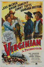 The Virginian (1946) Joel McCrea Cult Western movie poster 24x36 inches approx.