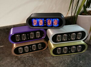 The contemporary POD Nixie tube Clock from Bad Dog Designs