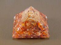 Roter Karneol 65-70Mm Kristall-Orgon-Pyramide Energie Reiki Heilender Edelstein