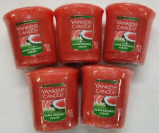 Yankee Candle Votives: GUAVA COCONUT FUSION Wax Melts Lot of 5 Orange Pink New