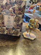 Cherished Teddies - Carousel Horse- JENELLE - Girl On Bunny New In Box NIB