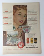 Magazine Print Magazine Ad 1954 A&P Food Services Grocery Eight O'Clock Coffee