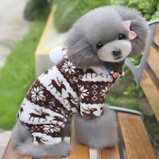 Pet Dog Winter Warm Hooded Coat Pajamas Fleece Snowflake Hoodie Apparel Clothes