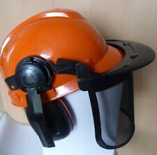 kit forestier casque - anti-bruit - visière - paire de lunettes de gants ROCWOOD