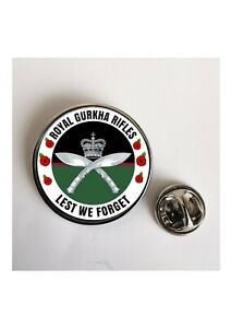 Royal Gurkha Rifles Lest We Forget Army lapel pin badge / Key Ring  / Magnet