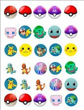 Pokemon BADGE Buttons Party Favour Lolly Bag Loot Birthday Card Toy Figure Kids